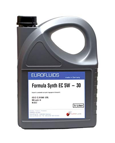 Eurofluids Formula Synth EC 5W-30 Motoröl geeignet für VW 50400/50700, BMW LL 04, MB 229.51 | 5-Liter-Kanister