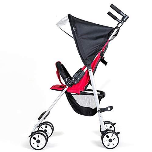 JKL Ultraleicht, einfach zu falten, sitzen und liegen im tragbaren Kinderhandwagen-Taschenschirm-Auto, kann mit einer Hand gedrückt werden, geeignet für Kinder von 6 Monaten bis 5 Jahre