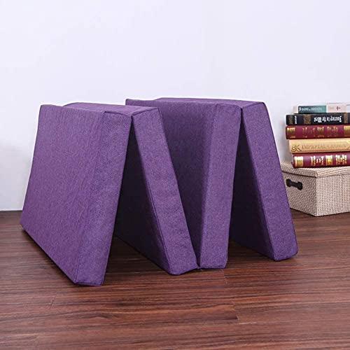 Diumy Colchón Plegable de 4 direcciones, colchón Sponge Z para Adultos y niños, cómodo con una Funda extraíble con Cremallera Almohadillas de colchón para futón-Un 90x190cm(35x75inch)
