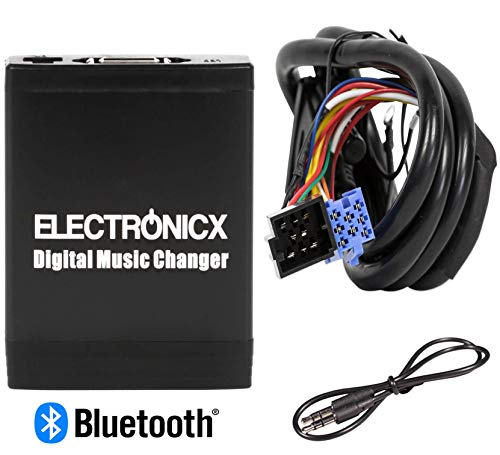 Electronicx Elec-M06-VW8D-BT Adaptateur de Musique USB SD AUX Bluetooth kit Mains Libres pour VW,Skoda, Audi, Ford 8 Pin