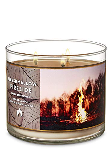 Bougie 3 mèches Marshmallow Fireside Bath and Body Works