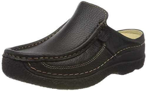 Wolky Comfort Roll Slide - 70000 schwarz gedruckt Leder - 40