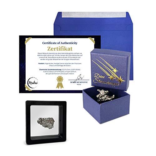 Makai Campo del Cielo Meteorit Estrella fugaz de hierro 15 gramos con marco...