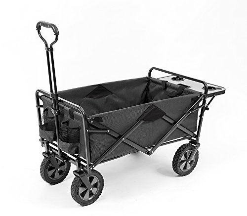 Mac Sports Collapsible Outdoor Utility Wagon with Folding Table and Drink...