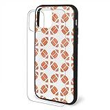 Iphone 11 Case Orange Rugby American Football Iphone TPU Glass Phone Case Shock-Absorption Bumper Cover