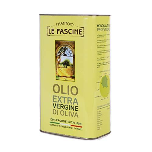 Le Fascine Olio Extravergine di Oliva 100 % Italiano Prodotto da Olive Provenzale (Latta da 3 Litri)
