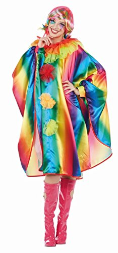 Rainbow Cape Damen Kostüm Umhang Überwurf Poncho