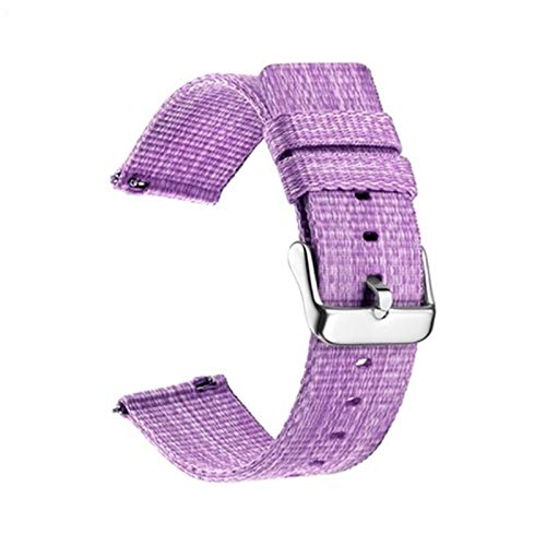 DANGAO Correa de Lona de Nylon para Banda de Reloj de 47 mm 42mm para Reloj Huawei GT 2 2E GT2 Correas (Color : Type 2 Purple, Size : 20MM)