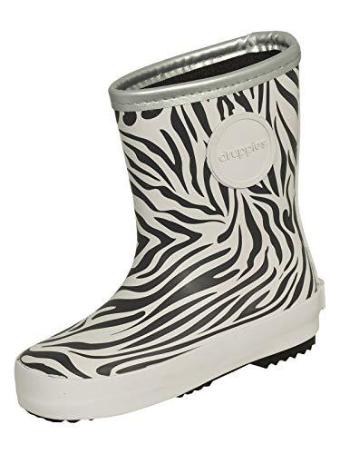 druppies® Regenstiefel Kinderstiefel Zebra schwarz/weiß 24