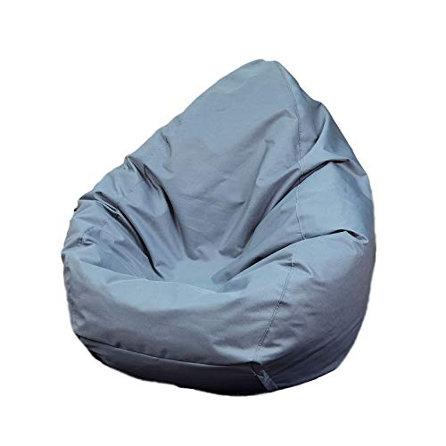Puf de almacenamiento para juguetes para niños y adultos, funda impermeable para silla de puf con cremallera para interiores y exteriores, sin relleno, ideal para sillas de juegos(gris,95x75cm)