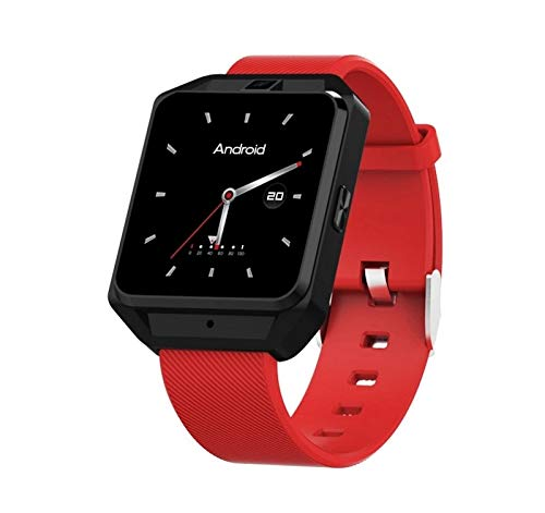 KTH Volle Netcom 4G Internet Android M5 Smart Uhr WiFi Bluetooth Herzfrequenz Multifunktionsanruf GPS-Navigationsuhr (Color : Red)