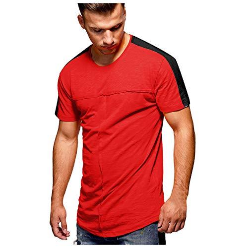 2021 Hombre Verano Tops ,Moda Casual de Verano para Hombre T-Shirt , Color sólido Talla Grande Camisa de Manga Corta, Ajuste cómodo y Ajustado Verano Color sólido Hombre T-Shirt