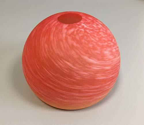 E27 Ersatzglas Glaskugel Kugelglas für Bogenleuchte Pendellampe Bogenlampe Ersatzschirm Leuchte Pendelleuchte Lampenglas Lampenschirm in rot-orange !
