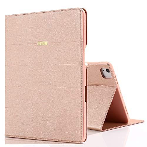 Funda Protectora para iPad para iPad Pro 11 Pulgadas (2020) PU + TPU Funda de Cuero Horizontal Flip con Soporte y Ranuras para Tarjetas Wenhengshangmaoyuxiangongsi (Color : Rose Gold)