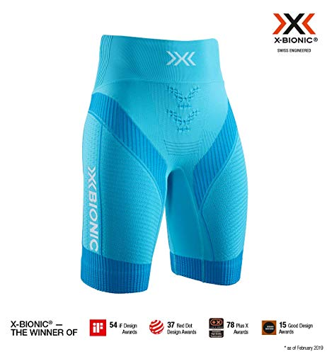 X-Bionic 4.0 Run Women Shorts Femme, Effektor Tuqoise/Arctic White, FR (Taille Fabricant : XL)