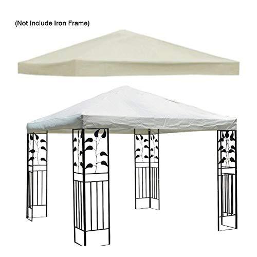 Gazebo Canopy - Funda de repuesto para patio doble (impermeable, 10 x 10 m), color beige