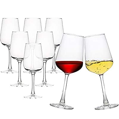 Wine Glass Party Set of 8 Fantastic Clear Red White Glassware