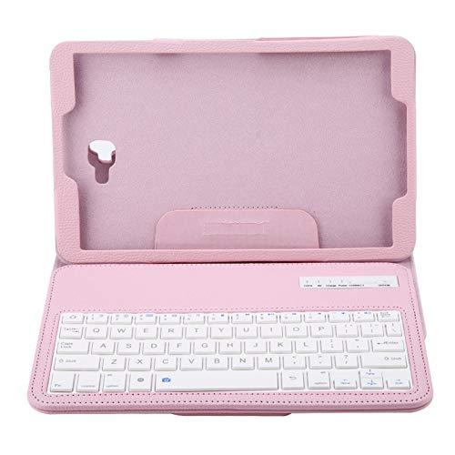Tablet teclado caso inalámbrico Bluetooth teclado cubierta para Sumsung Tab A 10.1 T580 (rosa)