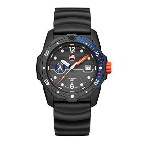 Luminox X Bear Grylls Survival SEA Armbanduhr (XB.3723), Swiss Made, graues Ziffernblatt, Tauchzonenanzeige, CARBONOX™-Gehäuse, energieunabhängiges Beleuchtungssystem