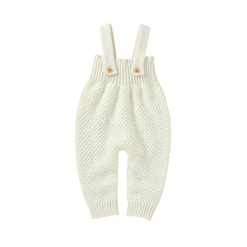 LANSKRLSP Ropa Bebé Recién Nacido Invierno Punto Prendas de Vestir 0-24 Meses Chaleco de Abajo Infantil Chaleco de Invierno Chaleco Volante Suéter Mameluco Mono