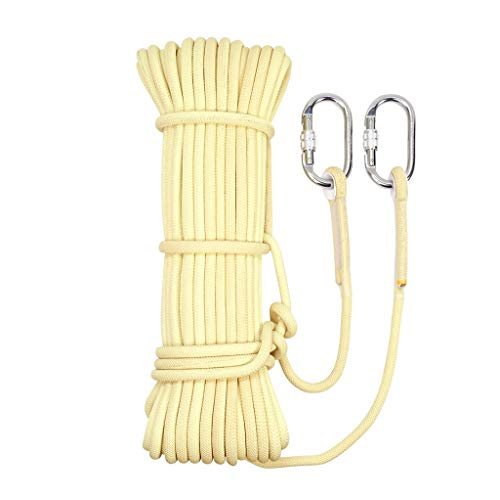 TYHZ Cuerda Escalada Regla Cuerda Cuerda De Escalada Camping/Escalada/Senderismo/M Buceo Crema Desgaste De Tamaño Opcional Cuerdas (Size : 8mm 20m)