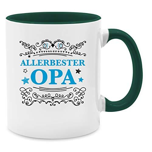 Shirtracer Statement Tasse - Allerbester Opa - Unisize - Petrolgrün - Opa - Q9061 - Tasse für Kaffee oder Tee