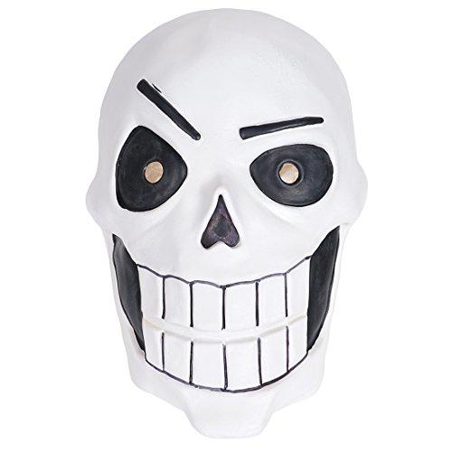 CoolChange Undertale Latex Totenschädel Maske Papyrus