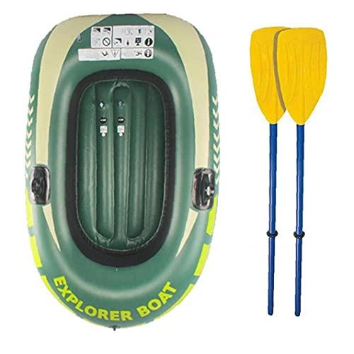 Tuimiyisou 2 Persona Rafting embarcación neumática Challenger Kayak Inflable Conjunto con levas para Pesca Verde