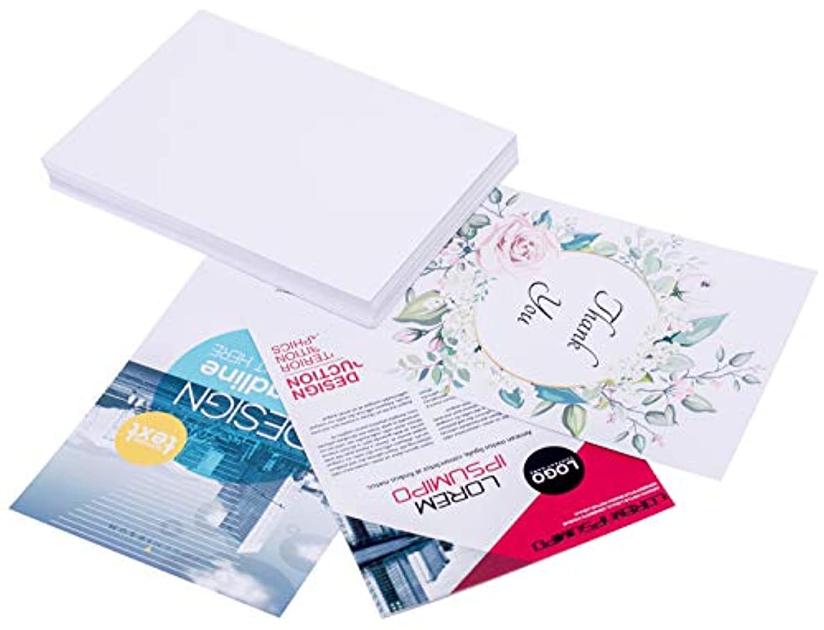 White Cardstock Paper 8.5 x 11 Inches (50 Sheets) 80lb Cover, 220gsm, Blank
