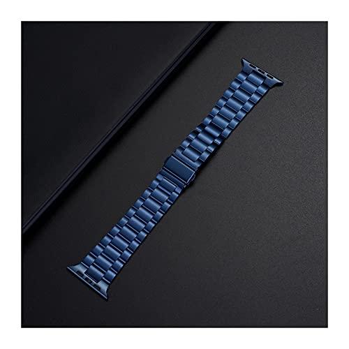 ZZDH Correas Relojes Adecuado para la Pulsera de reemplazo de Reloj Inteligente Serie de Correa de Metal de Acero Inoxidable Ultrafino 44 mm 40 mm Adecuado para Hombres y Mujeres