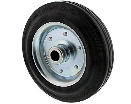 T... The Drive -16520-0250- Vollgummi Reifen auf Stahlfelge Stahlblechfelge für Stützrad (250 x 60 mm)