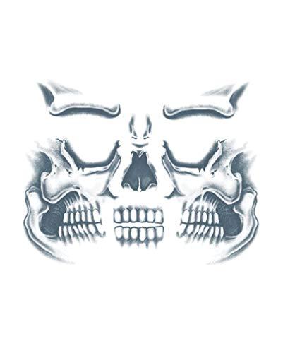 Horror-Shop Tatouage de visage de crâne