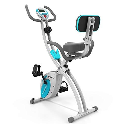 Bicicleta de ejercicios Aptitud Bicicleta Estática, Hogar Multifuncional Bicicleta Estática, Controlada Magnéticamente Ultra Silencioso Paso A Paso, Cubierta (Color : Blue, Size : 98x54x113cm)