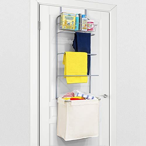 Tatkraft Solver über Tür Wäscheständer Platzparend mit Korb und Wäschekorb