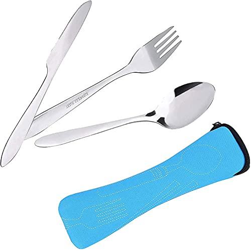 Posate in acciaio inossidabile [coltello, forchetta e cucchiaio] Le stoviglie da campeggio...