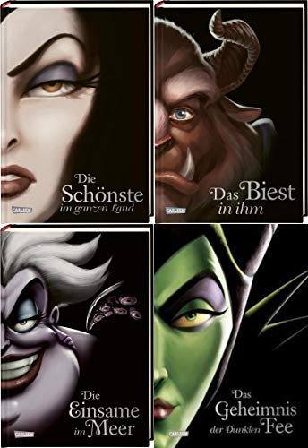 Disney Villains 4 Bände im Set + 1 exklusives Postkartenset
