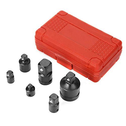 XQK 6 Pcs Impact Adaptor Set 1/4 3/8 1/2 3/4 Inch Drive Female to Male Air Impact Adapter Impact Socket Adapter for Impact Ratchet Wrench Screwdriver Bit