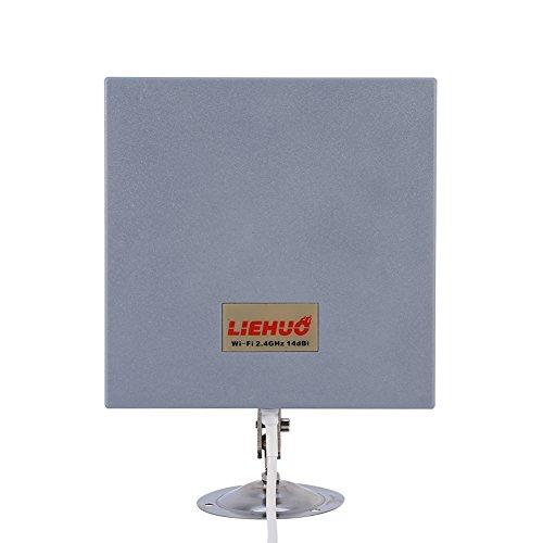 Wifi-signaalversterker, antenneveld, WLAN, 2,4 GHz, 14 dBi, High Gain WLAN, draadloze antenne-router, met vlak display, buiten, voor zender en signaalontvangers