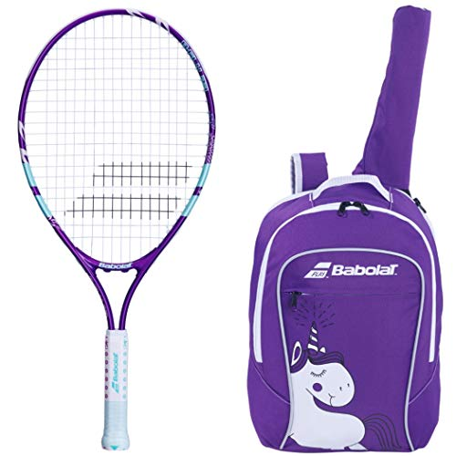 "Babolat B'Fly 23"" Inch Child's Tennis Racquet/Racket Kit or Set Bundled with a Purple Junior Tennis Backpack (Best Back to School Gift for Boys and Girls)"