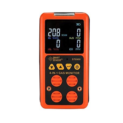 Measuring Instrument Multigas-Detektor-Hausgasalarm; CO, H2S, LEL und O2, Leckprüfgerät Überwachen Sie den Gasmonitor for brennbares Gas mit Sprach- / Lichtwarnalarm und -Anzeige ST8900 Gas Detectors
