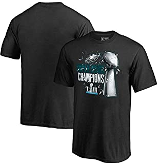 New Officially Licensed Philadelphia Eagles Confetti Lombardi Trophy Super Bowl LII Champions T-Shirt Size Youth L Large