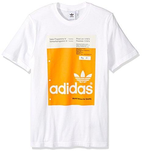 adidas Originals Herren Pantone Tee - Weiß - X-Klein