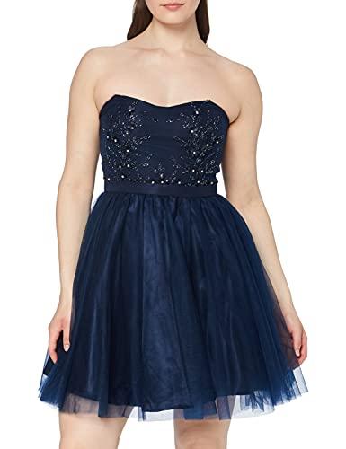 Laona Damen Cocktail Dress LA92004 Partykleid, Blau (Stormy Blue 7011), 38 (Herstellergröße: M)