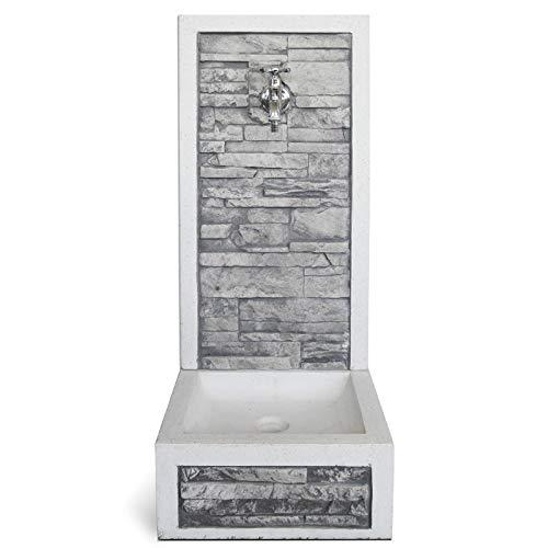 Fontana in cemento da Giardino Esterno KAM modello ADIGE colore bianco