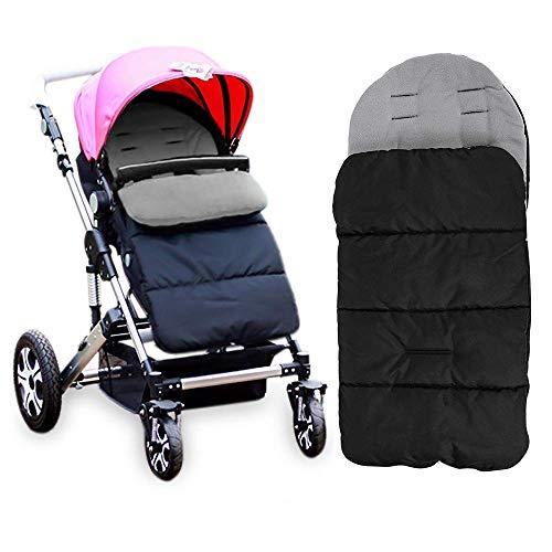 Diagtree Baby Sleeping Bag Universal 3 in 1 Stroller Annex Mat Footmuff Cover Stroller Bunting Bag Waterproof Windproof Cold-Proof Detachable (Grey)