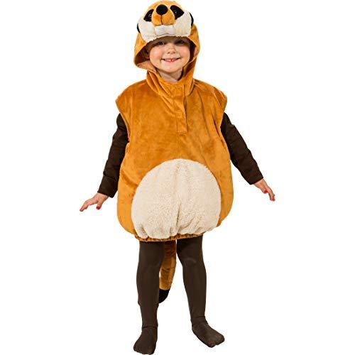 NET TOYS Adorable Set de Disfraz Suricata para nio y nia | Marrn en Talla 99 - 104 cm, 3 - 4 aos | Cautivador Disfraz Infantil de Animales | Apropiado para carnavales Infantiles y Festivales