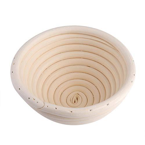 Shipenophy Cesta de Almacenamiento de Alimentos Cestas de Pan Redondas Hechas a Mano para panes para panadería(11x6cm)