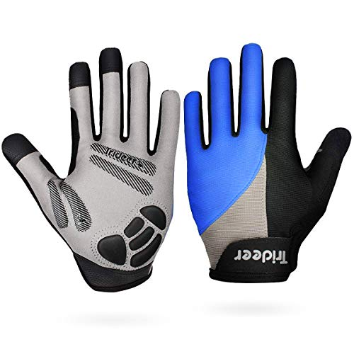 Trideer Touch-Screen Cycling Gloves, Mountain Road Gloves Anti-Slip...