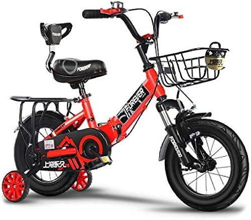 Kinderfürr r Einr r Kinder fürrad 2-3-4-6 Jahre alt Kinderwagen Jungen und mädchen Baby fürrad Falten fürrad Multifunktions-Sport fürrad (Farbe   rot-B, Größe   12IN)