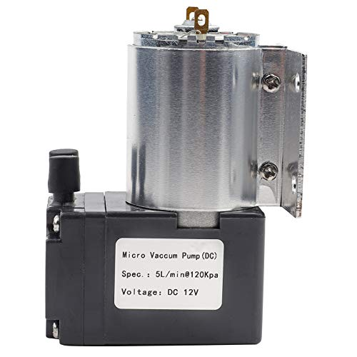 Minibomba de succión de vacío de bajo consumo de energía de alta eficiencia 5L / min 120KPa DC 12V Bomba de succión de presión negativa para análisis de gas Muestreo industrial